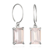 Chatham Earring-Rose Quartz Silver