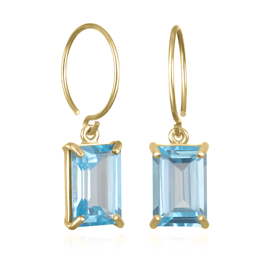 Chatham Earring-Sky Blue Topaz Gold