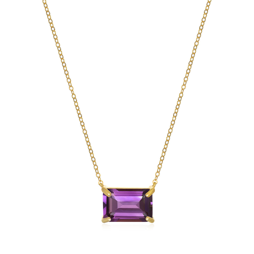 Chatham Necklace-Amethyst Gold