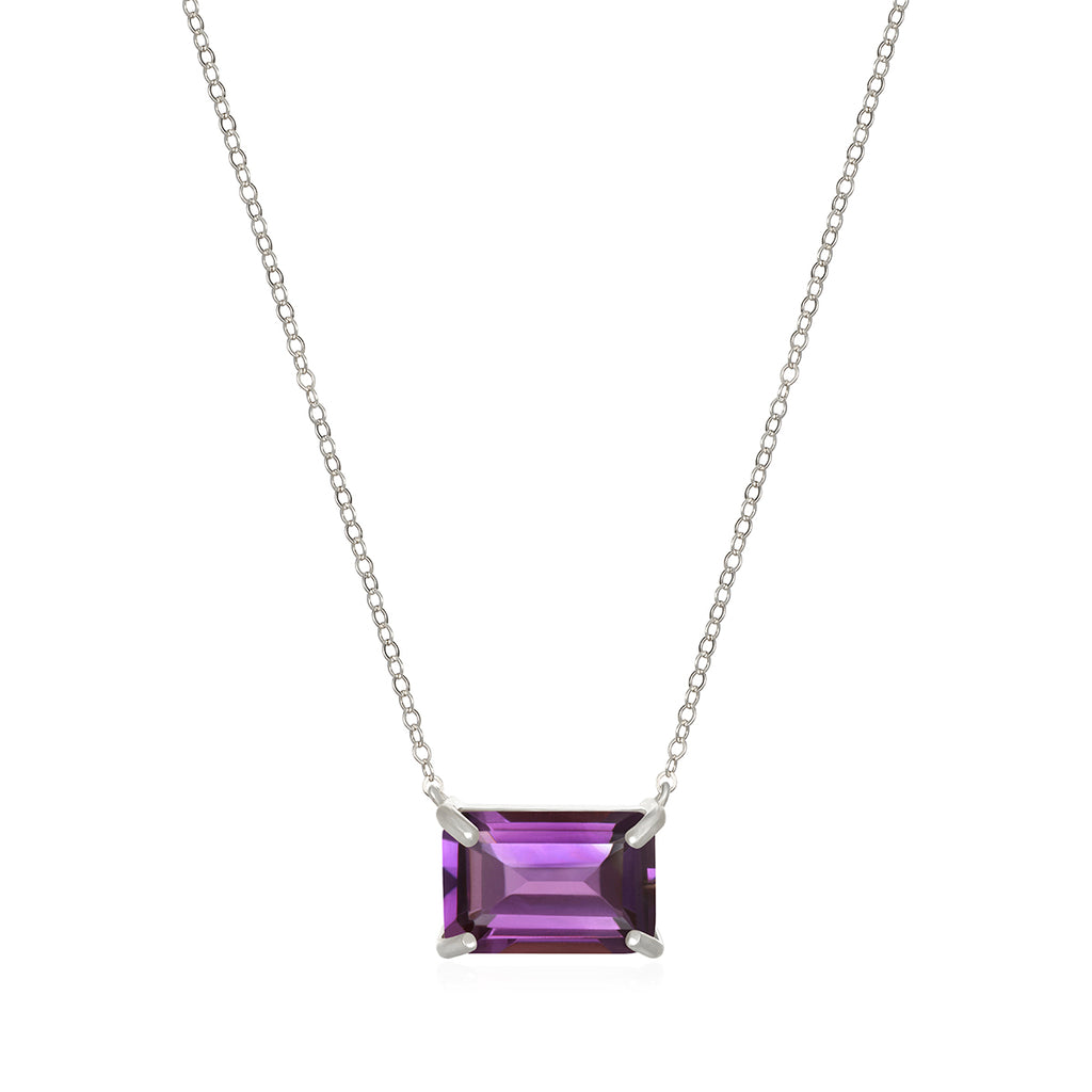 Chatham Necklace-Amethyst Silver