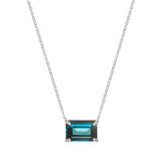Chatham Necklace-London Blue Topaz Silver