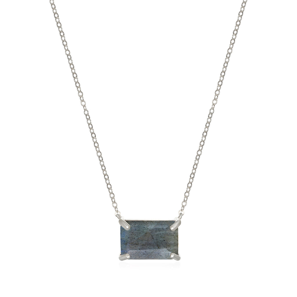 Chatham Necklace-Labradorite Silver