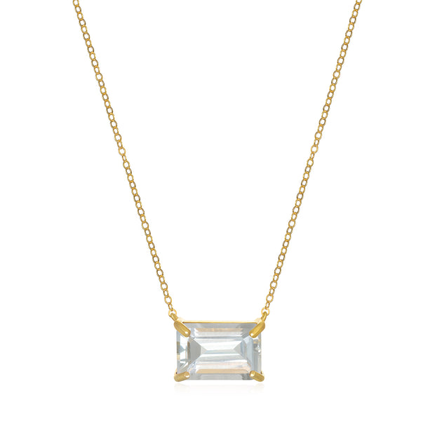 Chatham Necklace-White Topaz Gold