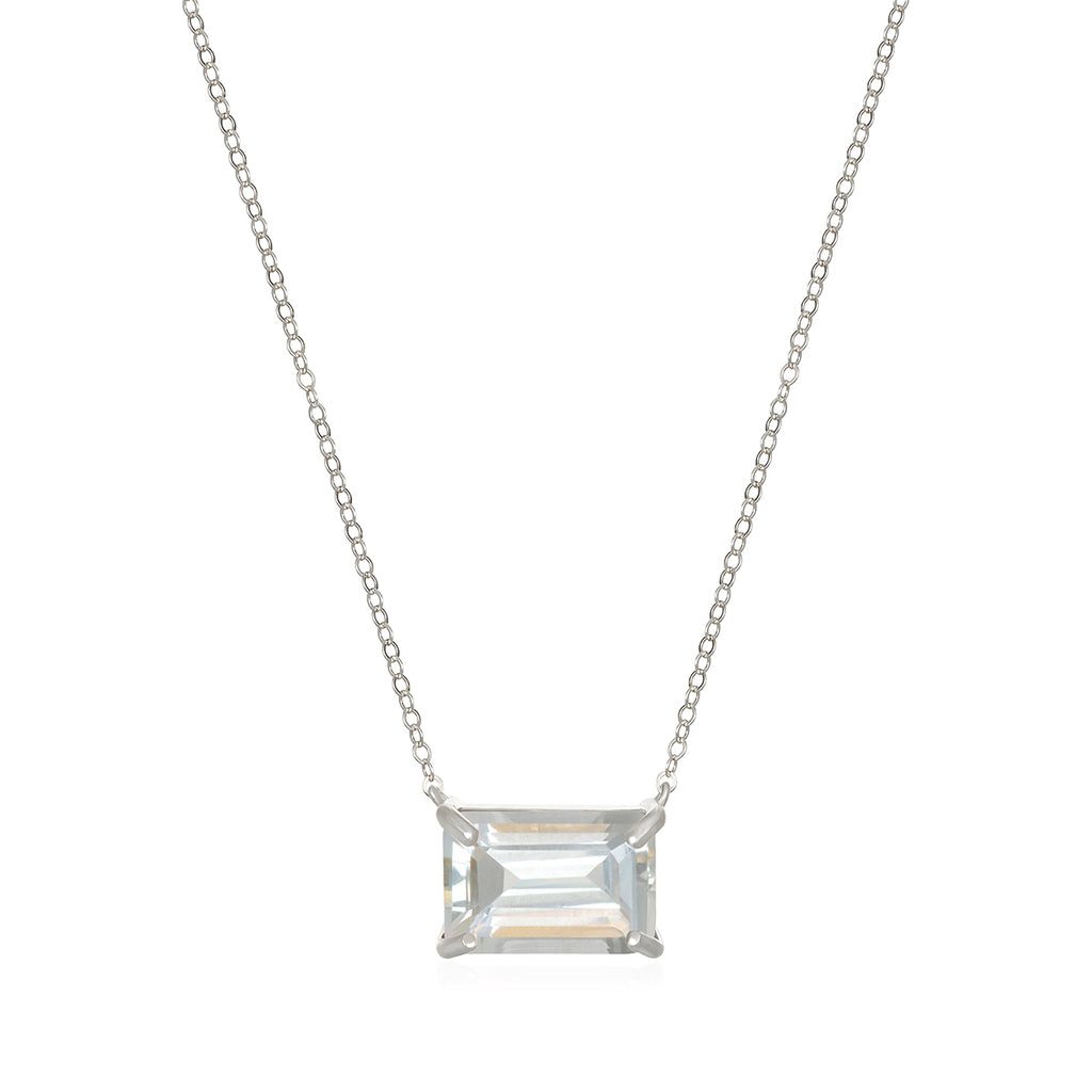 Chatham Necklace-White Topaz Silver