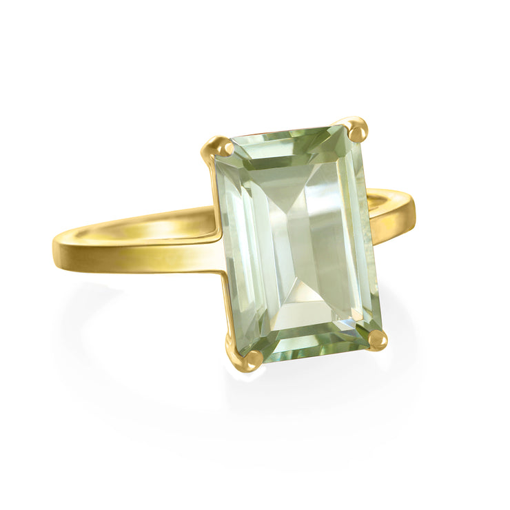 Chatham Ring-Green Amethyst Gold