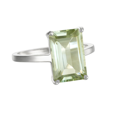 Chatham Ring-Green Amethyst Silver