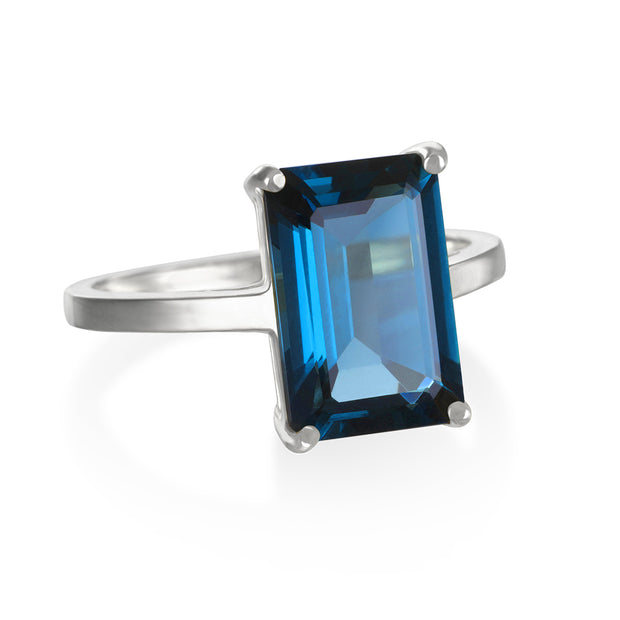 Chatham Ring-London Blue Topaz Silver
