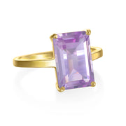 Chatham Ring-Pink Amethyst Gold