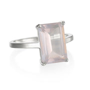 Chatham Ring-Rose Quartz Silver