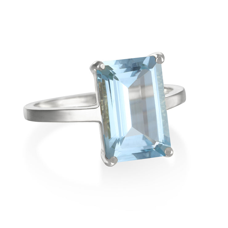 Chatham Ring-Sky Blue Topaz Silver