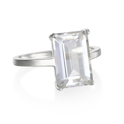 Chatham Ring-White Topaz Silver