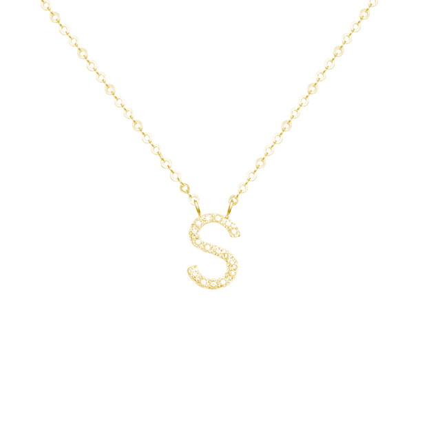 NEW! Diamond Initial Necklace-Gold