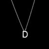Diamond Initial Necklace - D