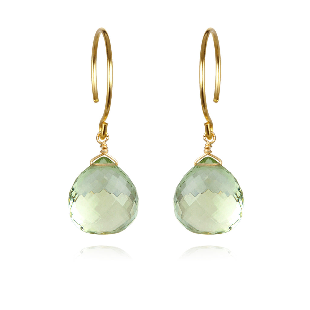 Catherine Earring-Green Amethyst