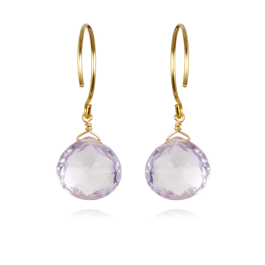 Catherine Earring-Pink Amethyst