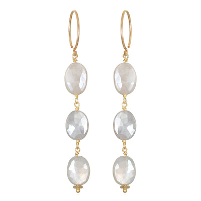 Moonstone link earrings
