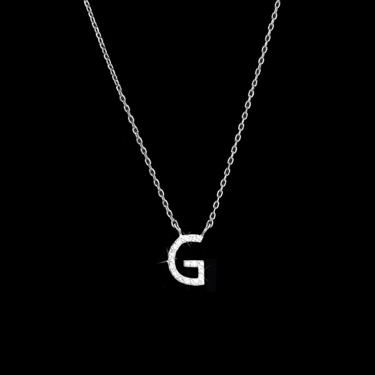 Diamond Initial Necklace - G