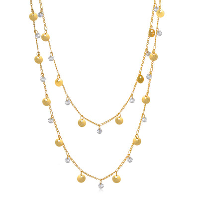 Catalina Layered Sparkle Necklace