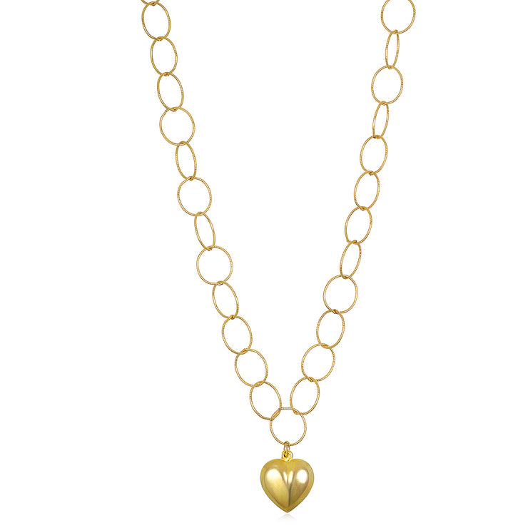 NEW! Heart Charm Loop Necklace