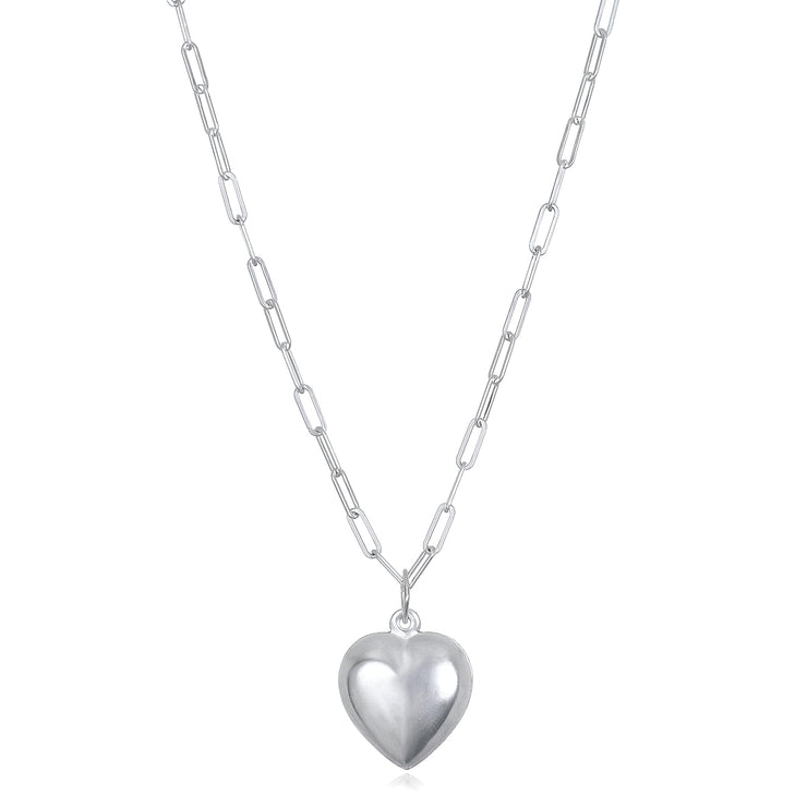 NEW! Heart Charm Paperclip Necklace