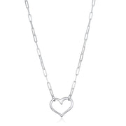 NEW! Open Heart Paperclip Necklace