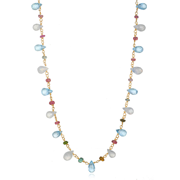 Wildflower Topaz Necklace-long