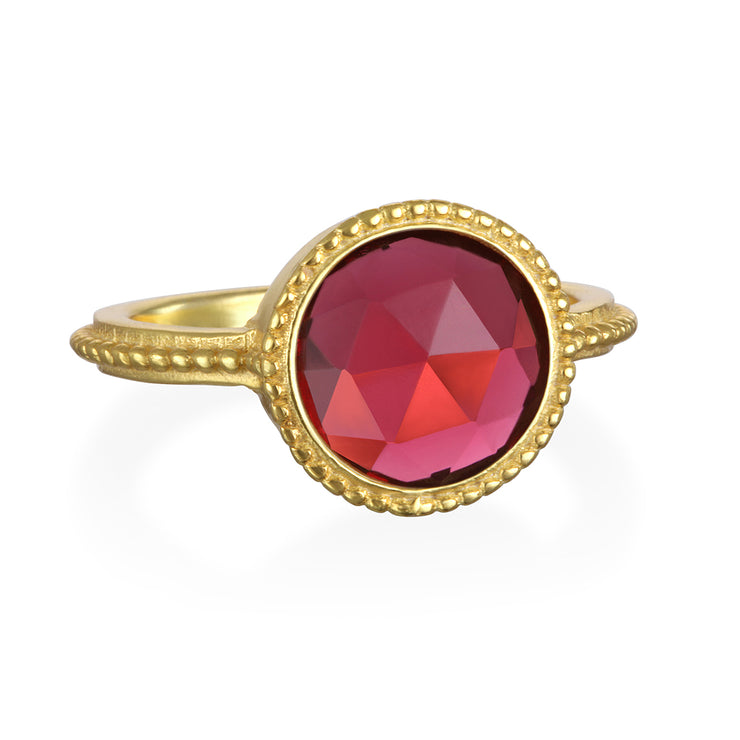 Pink Quartz Daphne Ring Gold