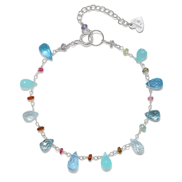 Wildflower Bracelet-Blue Topaz