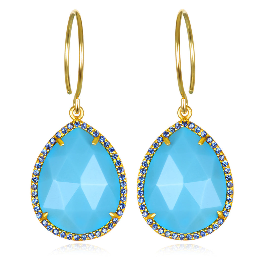 Paris Gem Teardrop-Turquoise Gold