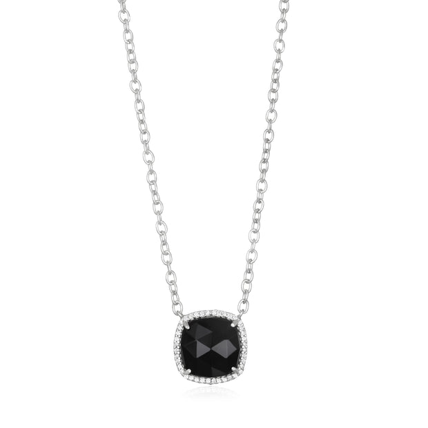 Paris Cushion Necklace - Black