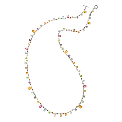 Wildflower Citrine Necklace-long