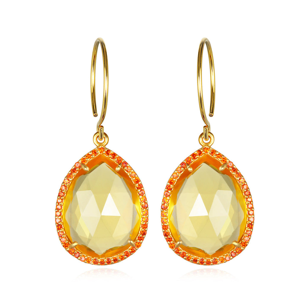 Paris Gem Teardrop - Sunflower Gold