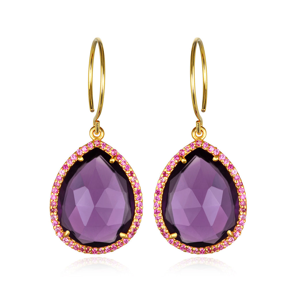 Paris Gem Teardrop - Violet Gold