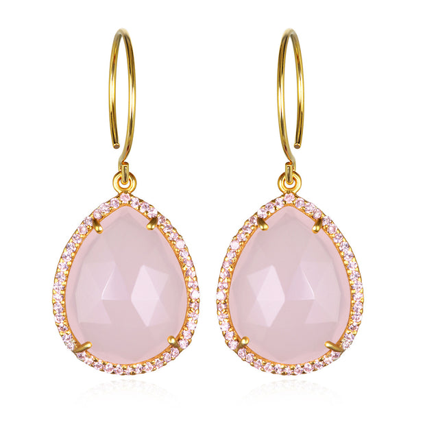 Paris Gem Teardrop - Pink Gold