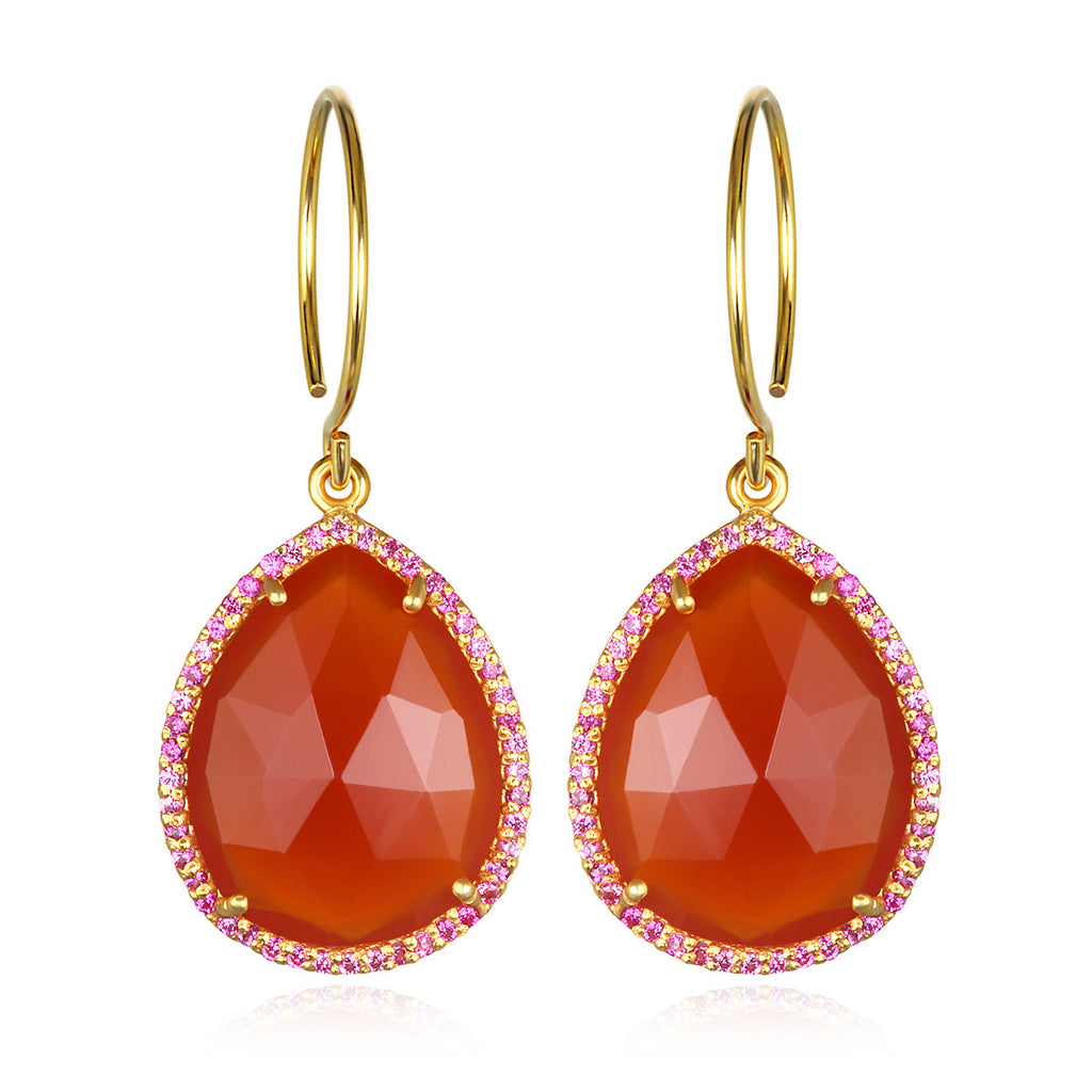 Paris Gem Teardrop - Orange Gold