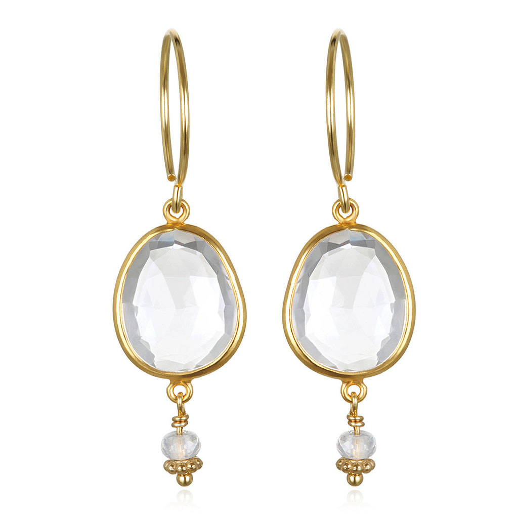 Lake Como Earring - White Topaz Gold