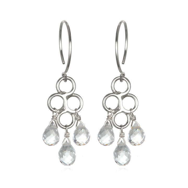 Honeycomb Earring White Topaz