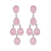 Chandelier Earrings - Pink Silver