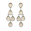 Smoky Chandelier Earrings Silver