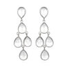 Clear Chandelier Earrings Silver