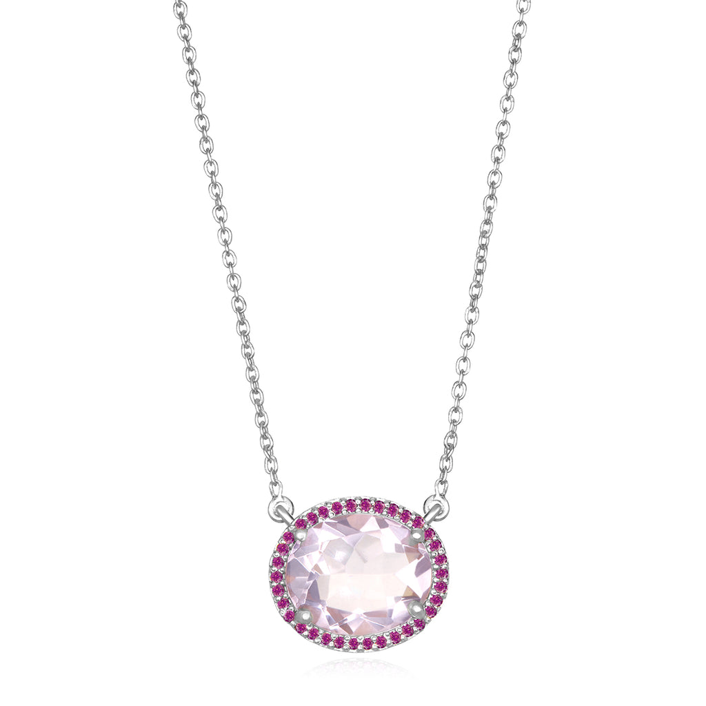 Charleston Necklace - Light Pink Silver