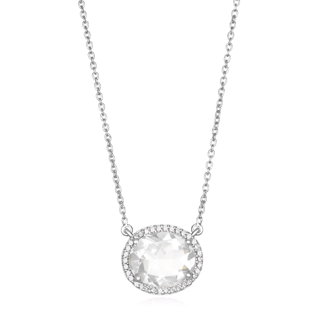 Charleston Necklace - Clear Silver