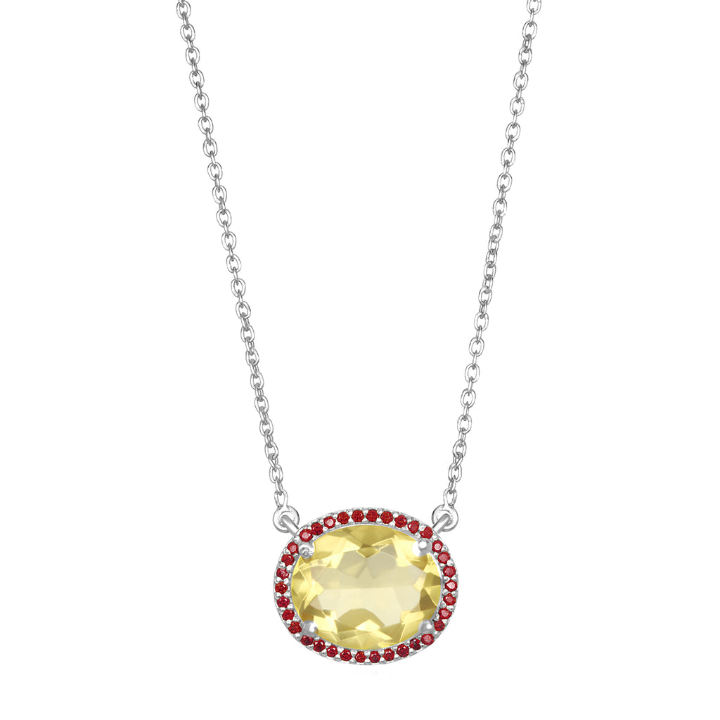 Charleston Necklace - Yellow Silver