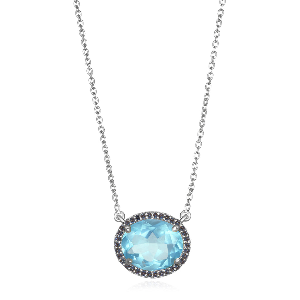 Charleston Necklace - Sky Blue Silver