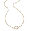 Lecco Necklace-Pearl White Topaz Gold