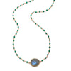 Lecco Necklace-Labradorite Green Onyx Gold