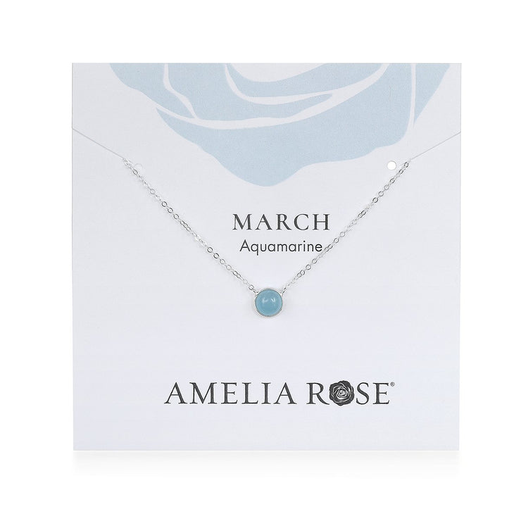 Birthstone Solitaire Necklace