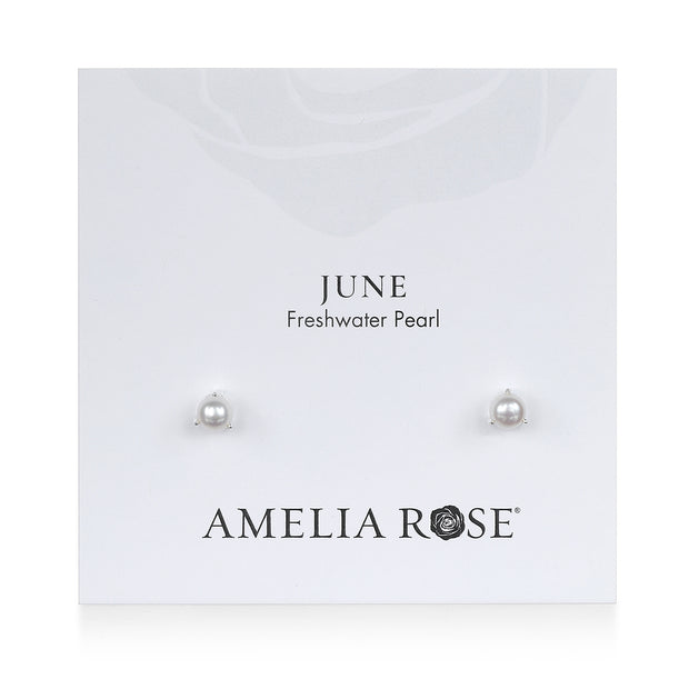 Birthstone Earring-June Pearl