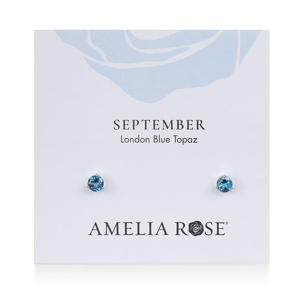 Birthstone Earring-September London Blue Topaz