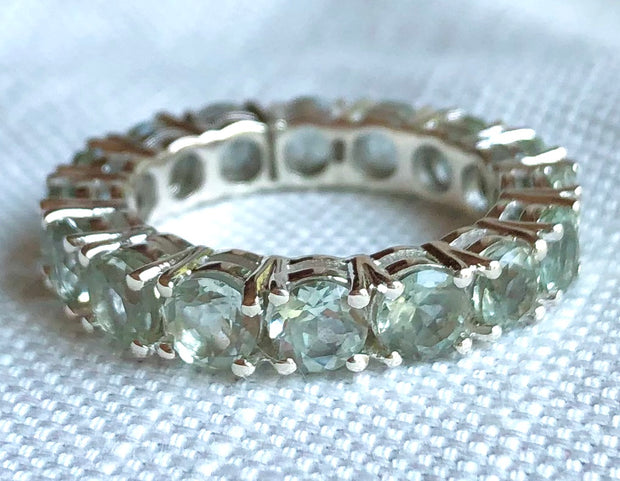 Round Eternity Gemstone Ring